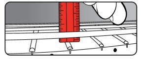 mengukur tinggi senar